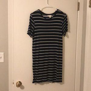 Navy striped tshirt dress